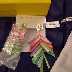 Kendra Scott NWT multicolored Jasper Earrings